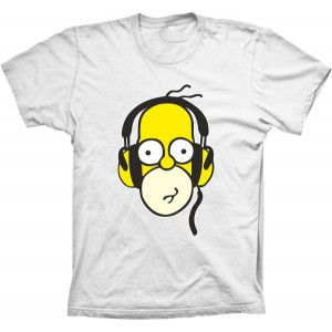 Camiseta Homer Simpson Fone
