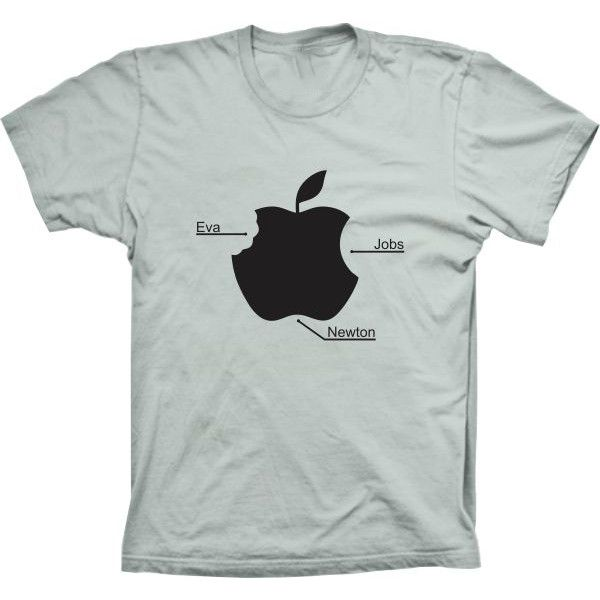 Camiseta Maça Apple Eva Jobs e Newton