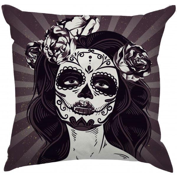 Almofada Caveira Mexicana Maquiagem