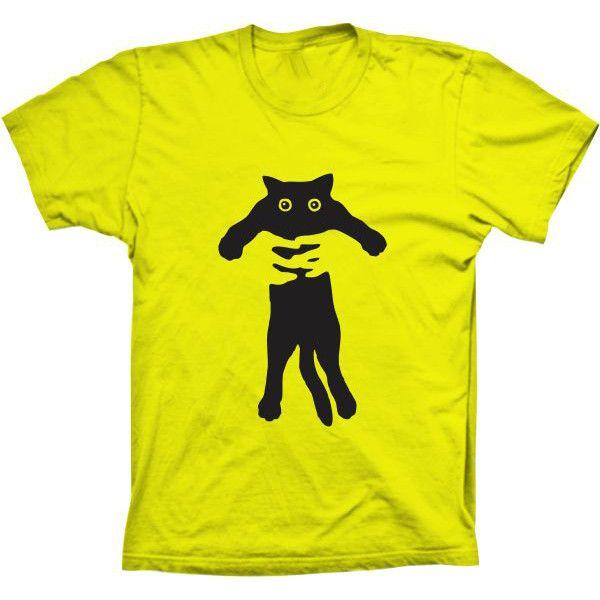 Camiseta Gato Abraçado