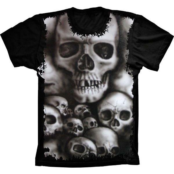 Camiseta Skull Caveiras