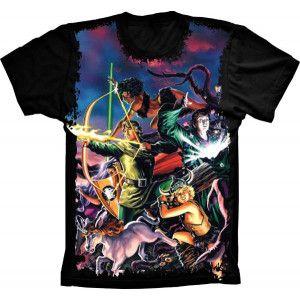 Camiseta Caverna do Dragão Personagens