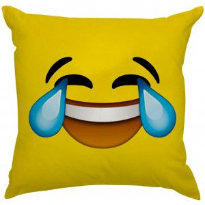 Almofada Emoji Chorando de Felicidade :'D