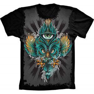 Camiseta Coruja Olho Que Tudo