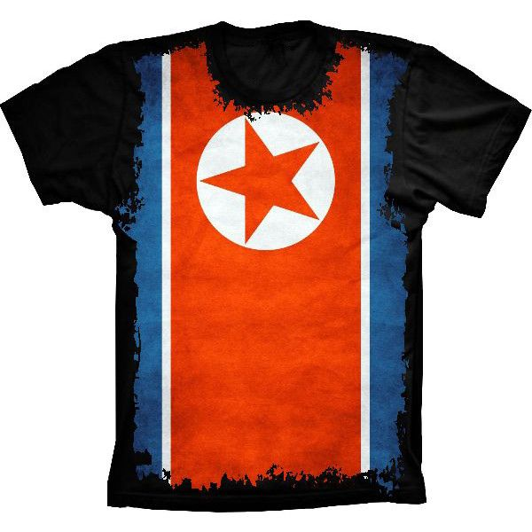 Camiseta Bandeira Da Córeia Do Norte