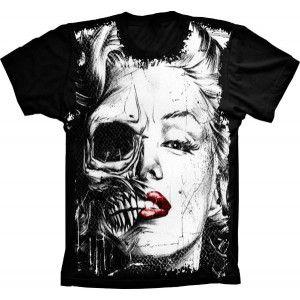Camiseta Caveira Marilyn Monroe