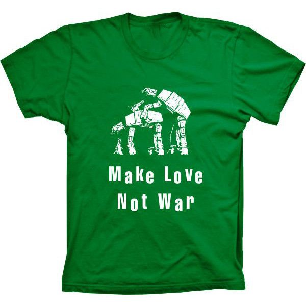 Camiseta Star Wars Make Love Not War