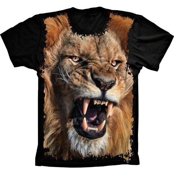 Camiseta Leão Rugindo