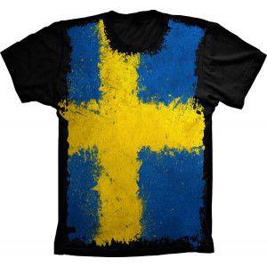 Camiseta Bandeira Da Suécia