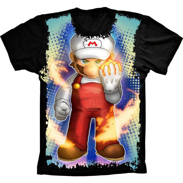 Camiseta Super Mario Game