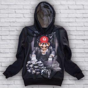 Moletom Mario Bros Thug Life M-419