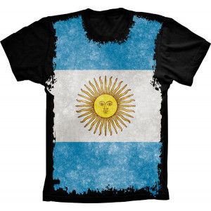 Camiseta Bandeira Da Argentina