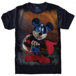 Camiseta Mickey Capitão América S-502