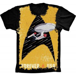 Camiseta Star Trek Forever a USA