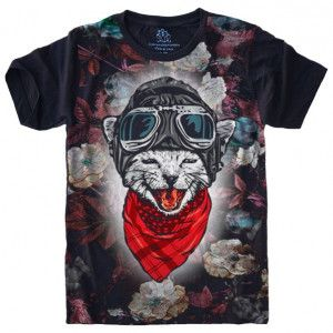 Camiseta Gato Aviador Cat S-422