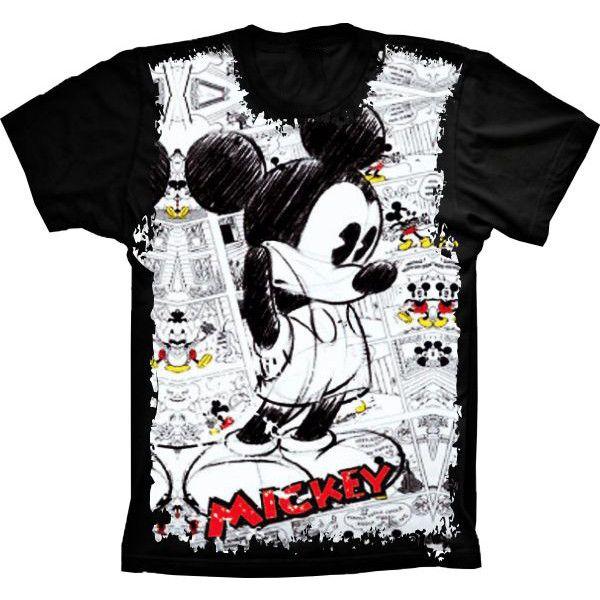 Camiseta Mickey Mouse Pensamento