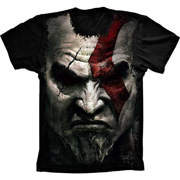 Camiseta God Of War Kratos Face