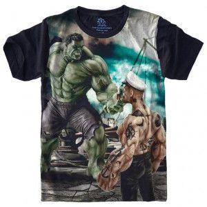 Camiseta Hulk x Popeye S-443
