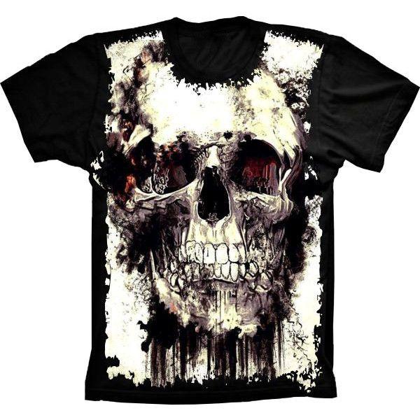 Camiseta Skull Caveira Style