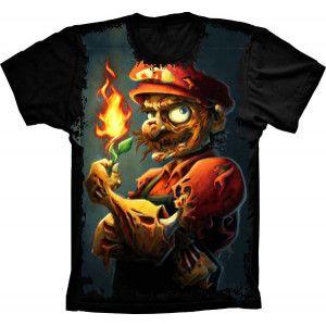 Camiseta Super Mario Zumbi