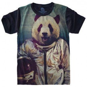 Camiseta Panda Astronauta S-420