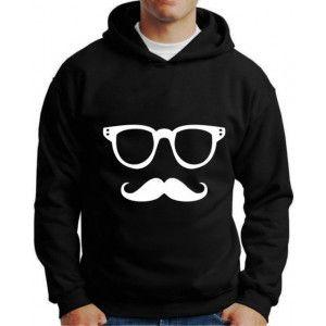Moletom Mustache Bigode E Óculos