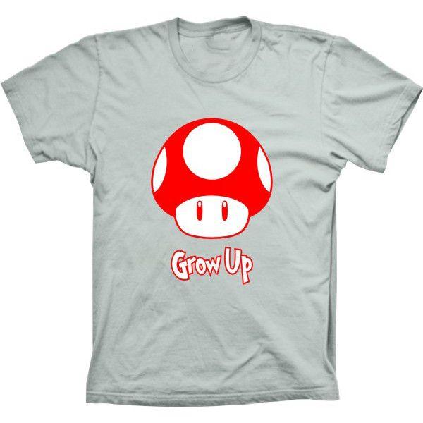 Camiseta Super Mario Grow Up
