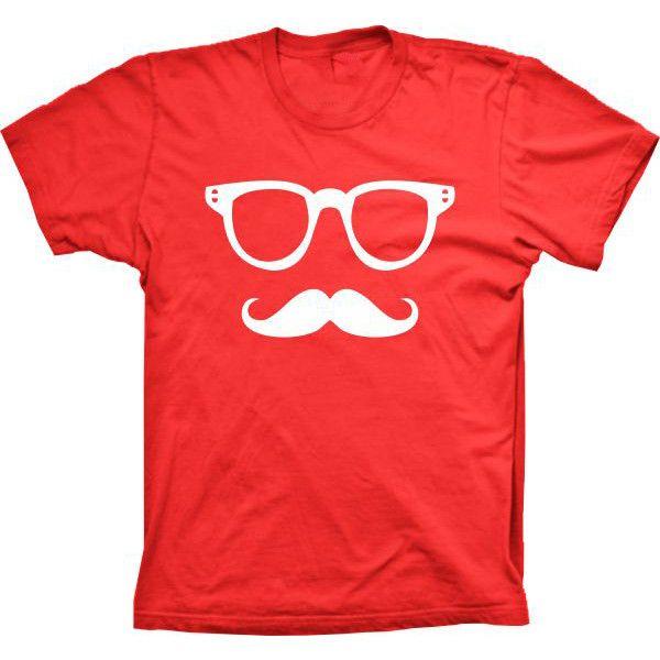 Camiseta Mustache Bigode E Óculos