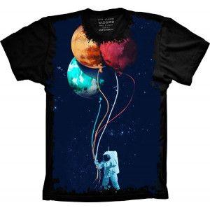 Camiseta Astronauta Balões S-392