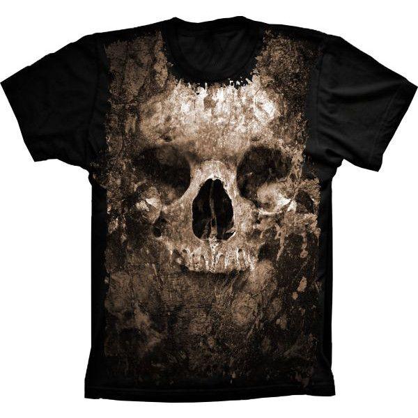Camiseta Skull Crânio Illusion