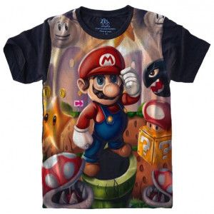 Camiseta Super Mario Bros S-531