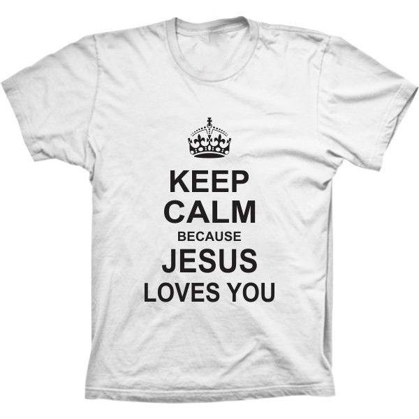 Camiseta Keep Calm Jesus