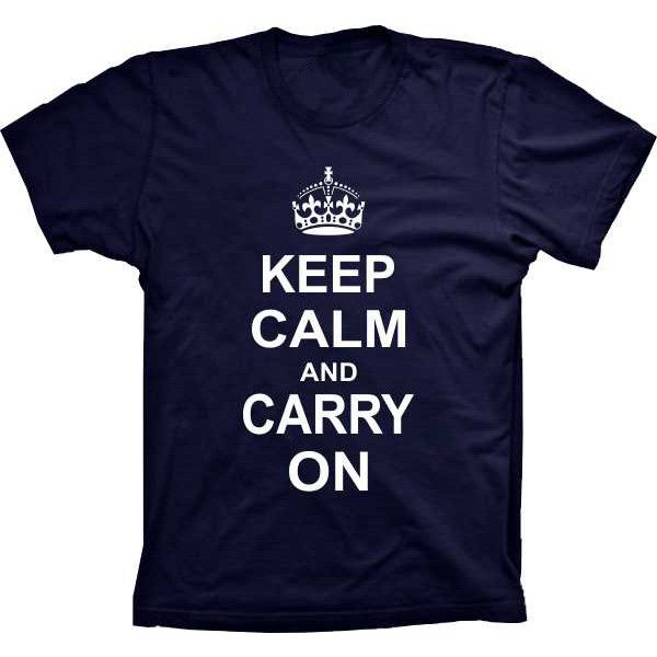 Camiseta Keep Calm And Carry On