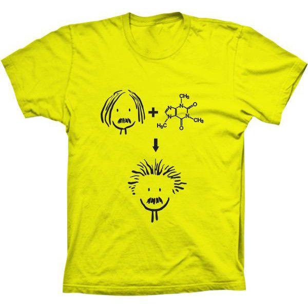 Camiseta Einstein + Cafeína
