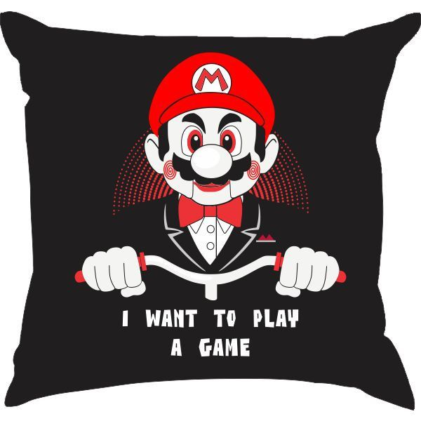 Almofada Mario - Eu quero jogar um jogo