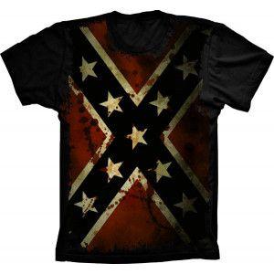 Camiseta Bandeira Dos Confederados