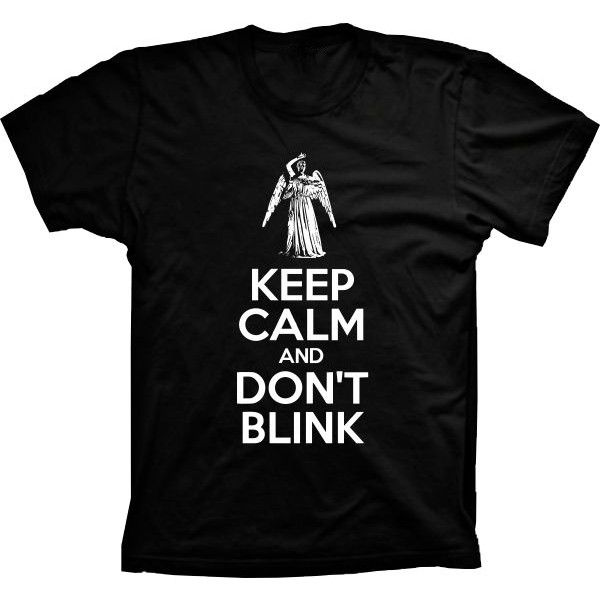 Camiseta Doctor Who Keep Calm and Dont Blink