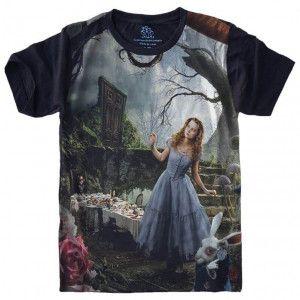 Camiseta Alice no País das Maravilhas S-459