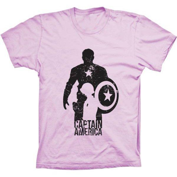 Camiseta Capitão América Silhueta