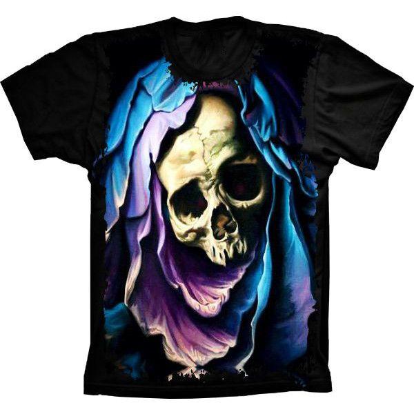 Camiseta Skull Caveira Blue