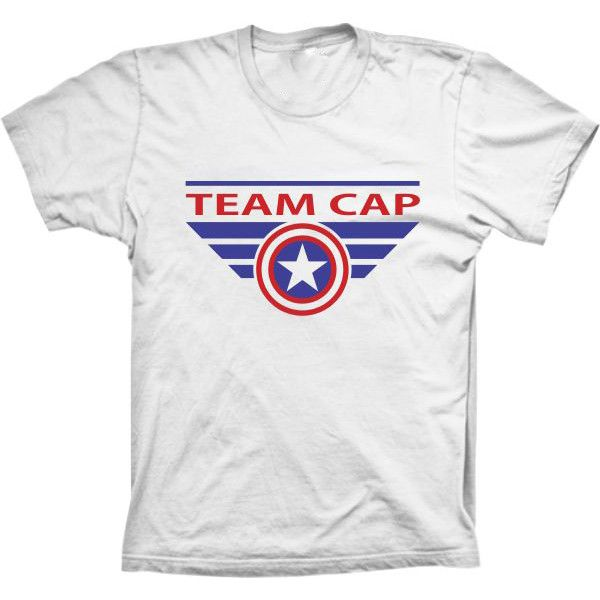 Camiseta Team Capitão América