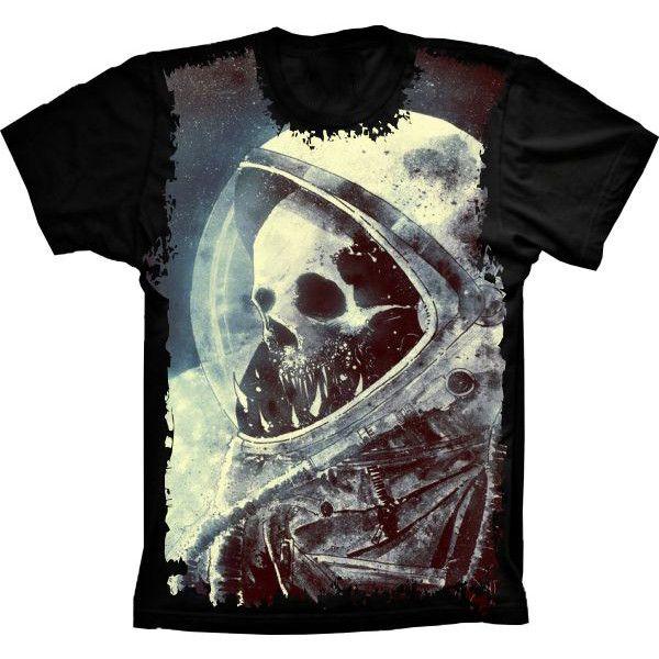 Camiseta Skull Caveira Astronauta