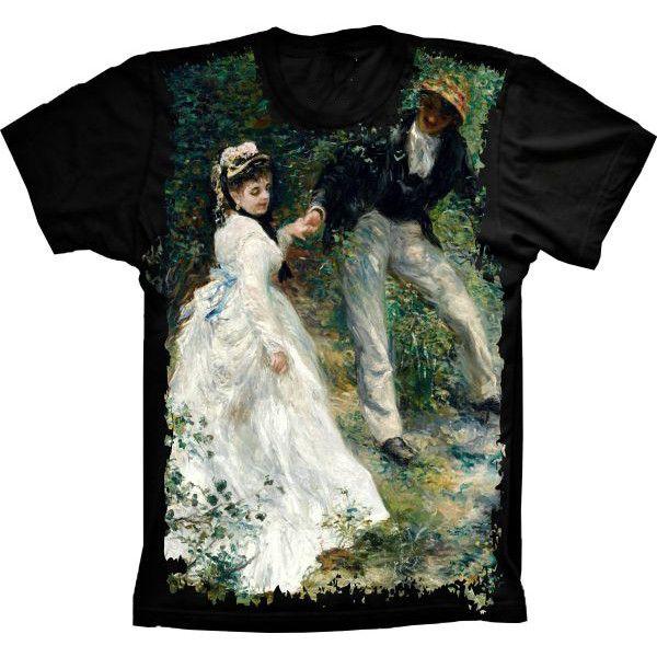 Camiseta Homem Mulher Casamento Quadro