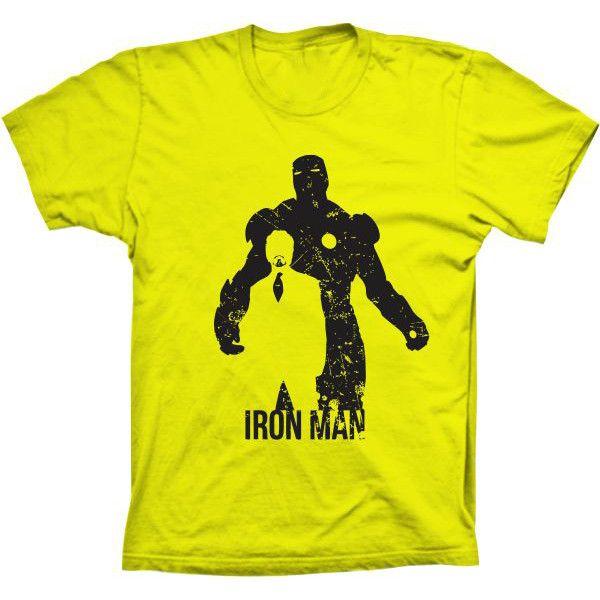 Camiseta Homem de Ferro Silhueta