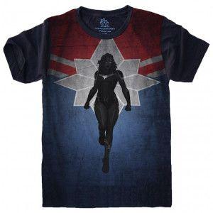 Camiseta Capitã Marvel Vingadores Avengers S-493