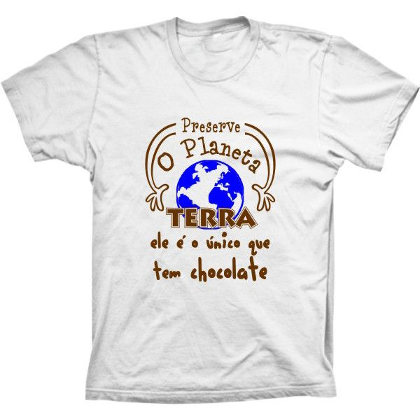 Camiseta Preserve O Planeta Terra Chocolate