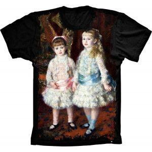 """Camiseta Rosa e Azul """"RENOIR"""" S-284"""