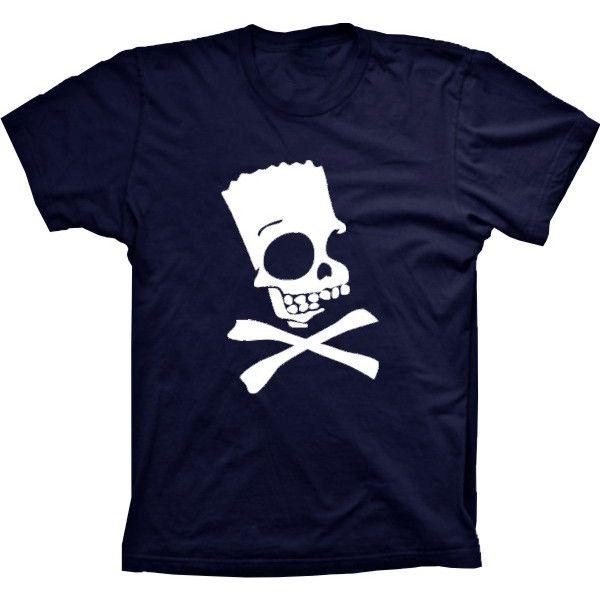 Camiseta Bart Simpson Caveira