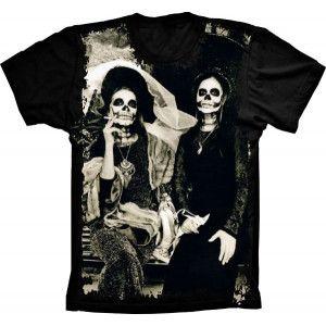 Camiseta Skull Caveira Mulheres na Praça