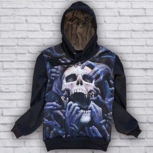 Moletom Caveira Mãos Skull Hands Skull M-184